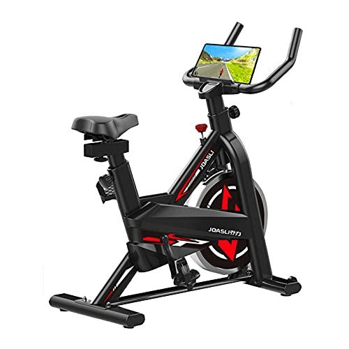 FCFLXJ Bicicletas estáticas para Interiores, Bicicleta estática Profesional, Montar en Escena/Velocidad/Tiempo/Calorías/Detección de frecuencia cardíaca, Cardiovascular con Bicicleta giratoria