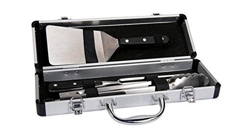Forge Adour - malette 3 ustensiles Pom - Malette de 3 ustensiles pour plancha et Barbecue