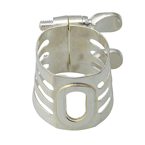 lovermusic Silver Plated Mouthpiece Ligature Clarinet Woodwind Instrument Accessories