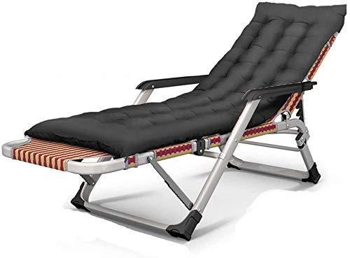 Directors Chairs - Tumbona reclinable Zero Gravity reclinable de aleación de hierro y tela transpirable para la oficina y la piscina, color rojo + almohadilla negra