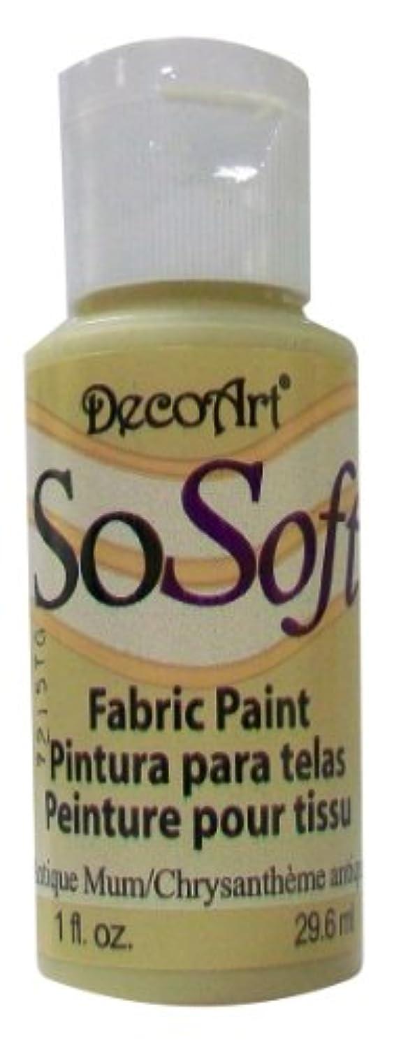 DecoArt SoSoft Fabric Paint 1oz Antique Mum