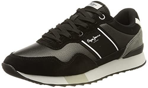 Pepe Jeans London Herren Cross 4 Court Sneaker, 999BLACK, 43 EU