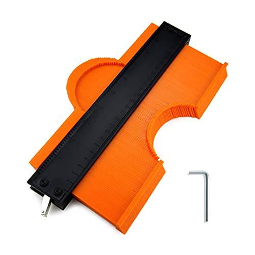 高精度測定ゲージ 型取りゲージ コンターゲージ セルフロック付き 250mm 幅広 曲線定規 輪郭コピー DIY用測定工具 不規則測定器 ストッパー付 ABS目盛付き 木工 測定ゲージ 測定工具