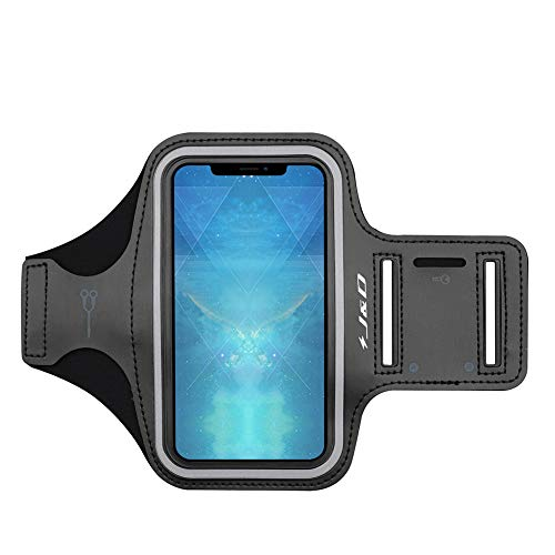J&DCompatibleparaAppleiPhoneXS/iPhoneXR/iPhoneX/iPhone8/iPhone7/iPhone6s/iPhone6BrazaleteDeportivoparaCorrer,RanuraparaLlaves,Conexión Auriculares