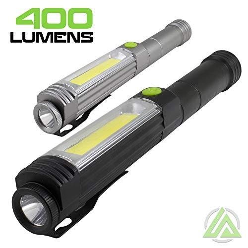 LitezAll Jumbo Pen Light w/Flashlight & Red Flasher; Wide Beam & Pocket Clip