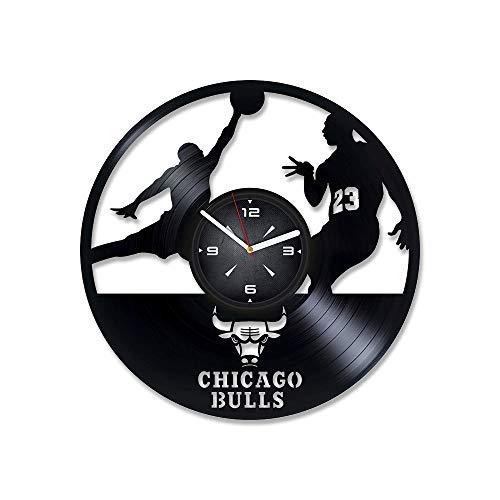 NBA Team Logo Basketball Vinyl Record Wall Clock. Decor for Bedroom, Living Room, Play Room. Unique Gift for Men or Boys. Xmas, Birthday, Holiday, Anniversary, New Home Present.