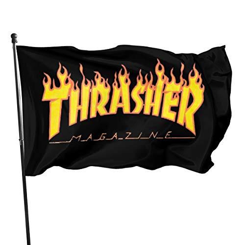 Guwafa8 Thrasher Seasonal Garden Flag Set for Outdoors Easter Flag Banner 3x5 Feet