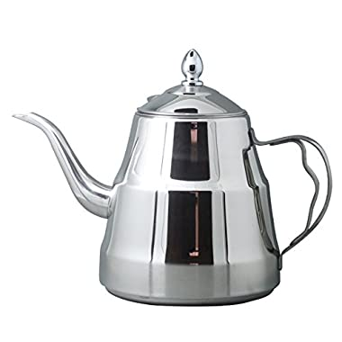 Riwendell Stainless Steel Mirror Finish Tea Kettle Stovetop Tea Pot 1.58 Quart (GS-028219-1.5L)