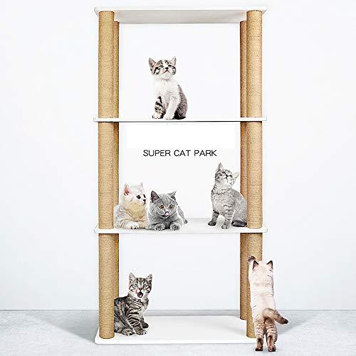 QNMM Große Kratzbaum-Möbel Hoch Mehrstufiger Kratzbaum Kätzchen-Spielzeugbaum Katzenspielzeug Katzenspielhaus Geeignet Für Die Meisten Katzenruhe Und Unterhaltung