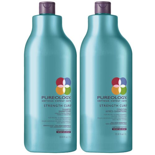 Pureology Strength Cure Shampoo 1000 ml und Conditioner 1000 ml - Duo