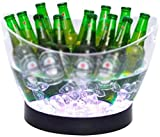 Colores LED cubo de hielo Heladera for vinos Cambio de los v