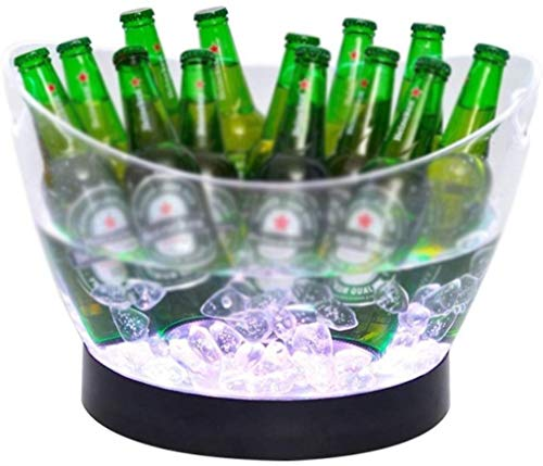 LED Eiskübel Weinkühler Farben ändern Champagne Wein Eimer for Party Home Bar - Bier Wein Whisky Wodka Martini