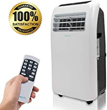SereneLife 10,000 BTU Portable Air Conditioner + 9,000 BTU Heater, 4-in-1 AC Unit with Built-in Dehumidifier, Fan Modes, Remote Control, Complete Window Exhaust Kit for Rooms Up to 350 Sq. Ft