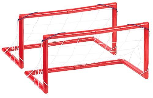 Playtastic Fußballtor: 2er-Set Tore, je mit Netz, ideal für Luftkissen-Fußball, Hockey u.v.m. (Straßenfußball-Tor)