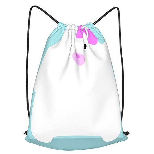 Mochila de viaje con cordón Hello Cub, mochila ligera para hombres y mujeres