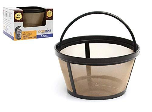 GOLDTONE - Filtro de café reutilizable de 8 a 12 tazas para cafeteras y cervezas, sin BPA