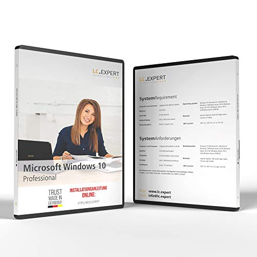 MS Windows 10 Professional 32/64bit ISO DVD mit Aktivierungsschlüssel und inkl. aller aktuellen Updates, + persönliche Installationshilfe von lc.expert