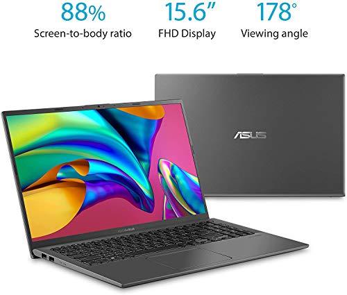 2021 ASUS F512DA VivoBook Laptop 15.6 FHD AMD 4-Core RYZEN 7 3700U 8GB DDR4 256GB NVMe SSD Radeon Vega 8 Graphics USB-C Backlit Keyboard WIFI5 HDMI Fingerprint Windows 10 Home w/RE 32GB USB 3.0 Drive