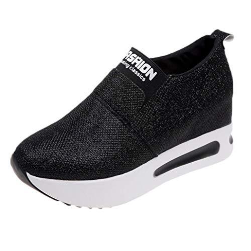 Damesschoenen Met Sleehak, Plateauzolen, Enkellaarzen Sportieve Wandelschoenen Verhoogde Interne Loafers Casual Dikke Sneakers