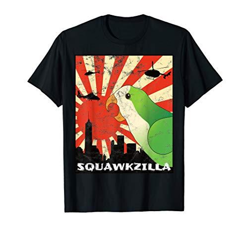 Squawk Zilla Quäker Mönch Sittich Papagei Squawking Kawaii T-Shirt