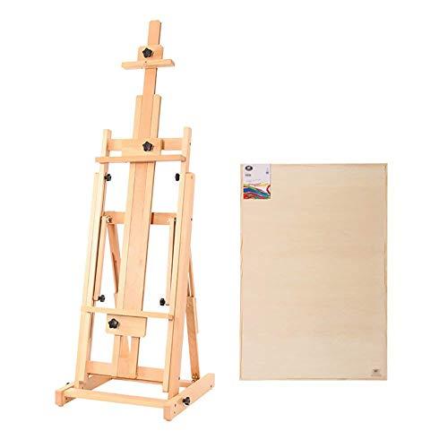 KEKEYANG Legno Olio Cuscinetto Pittura da cavalletto Verticale Impalcature Livello Outdoor Doppia Uso Sketch Pittura Display Booth con Tavolo da Disegno .Arte
