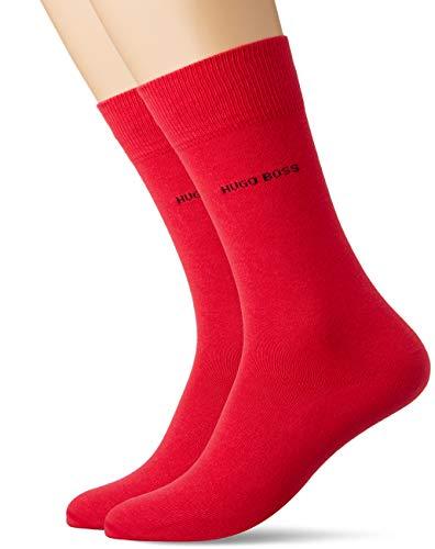 BOSS Herren 2P RS Uni Colours CC Klassische Socken, Medium Pink662, 43-46