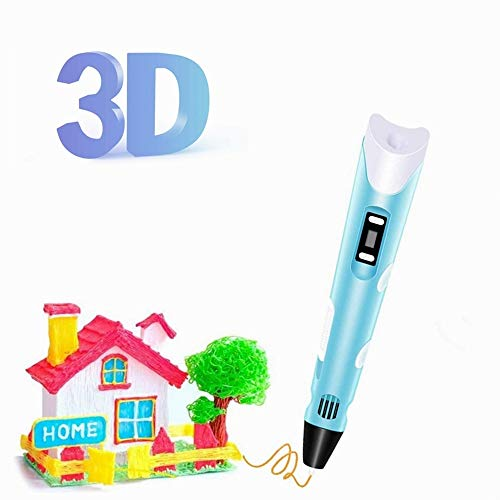3D Printing Pen,LCD Display Kids' DIY 3D Drawing Doodler Pen with 2 Colors PLA Filament,Creative Crafts Toy Gift for Children Design Drawing Christmas