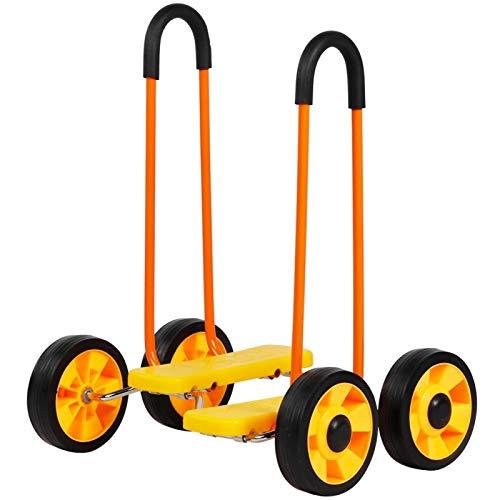 FOLOSAFENAR Balanced Scooter Farblose Früherziehung Übung Balance Fahrrad Vierrad stoßfest Single für Kinder für den Kindergarten