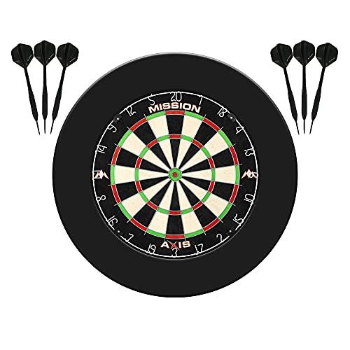 Mission Darts SU082 Axis Home Centre   Darts and Dartboard Complete Bundle...