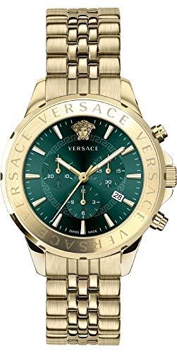 Versace Herrenuhr Chrono Signat Quarz grün | Herrenuhr | Quarz | goldfarben