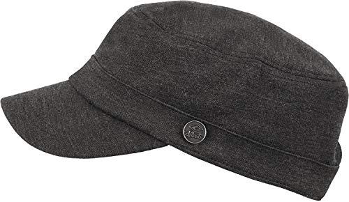 CHILLOUTS Mütze Beirut Hat hochwertige Hüte Mützen und Caps für Herren Damen und Kinder in 3 Farben, Farbe:Black Grey (BEI 01)