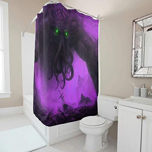 Harberry Juego de cortinas de ducha de pulpo mtico de calidad de hotel, lavables, para decoracin de la habitacin de bao, 91 x 180 cm