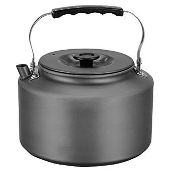 Bulin Bouilloire de camping - Chauffage rapide - 1,6 l - Portable - En aluminium - Pour l'extérieur - Pour le camping, la randonnée, le trekking, la randonnée, le pique-nique