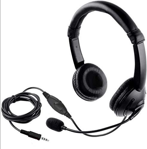 Mazu Homee Auriculares PS4 para juegos, conector de 3,5 mm, con auriculares para micrófono, auriculares de música, apto para PC, portátil, tablet, Mac smartphones