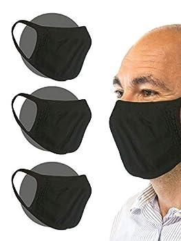 Relaxsan - Set 3 [Noir] Bandes Bouche Nez - Tissu Lavable réutilisable Absorbant bactériostatique
