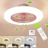 SJUN Ventilatori da soffitto con lampada LED Fan Plafoniera Ventilatore Invisibile Creativ...