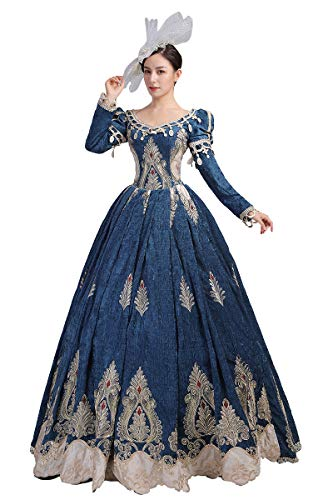 Kleid aus dem 18. Jahrhundert Rokoko Barock Marie Antoinette Ballkleider Renaissance Mittelalter Kleid Viktorianisches Ballkleid - - Mittel