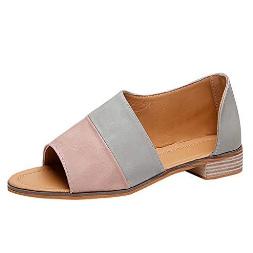 showsing-shoes , Damen Sandalen, Beige - Rose - Größe: 38 EU