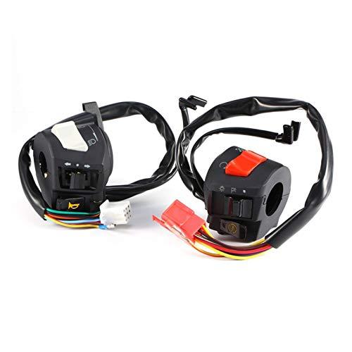 Interruptores de control del manillar de la motocicleta Interruptor del manillar de la motocicleta 7/8 'Gire la señal de giro para el interruptor de inicio eléctrico Universal para Suzuki Yamaha 12V D