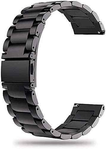 22mm Correa hombre Compatible con Amazfit Pace Metálica de Reloj de Liberación Rápida, Pulsera Reloj de Acero Inoxidable kokymaker
