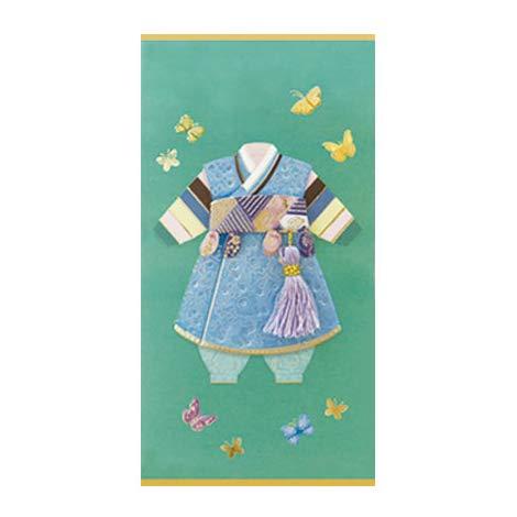 韓国 メッセージカード (韓服)パジチョゴリ1■messagecard-ft214-1-s【ギフト】【お土産】
