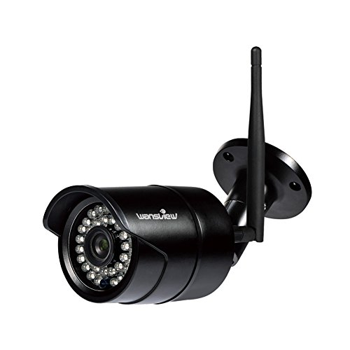 Wansview Outdoor Security Camera, 1080P Wireless WiFi IP Surveillance Bullet Camera,IP66 Weatherproof, Support Onvif&RTSP W2-Black