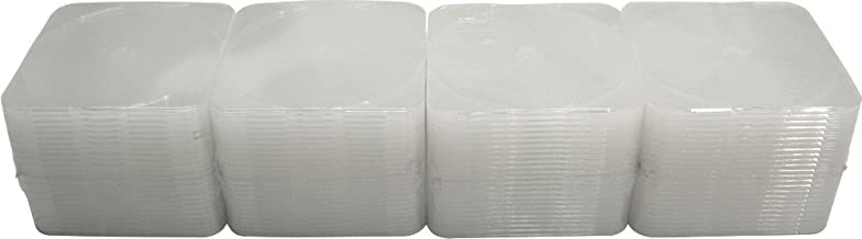 (100) Slim Single Clear 4mm Clamshell CD Cases