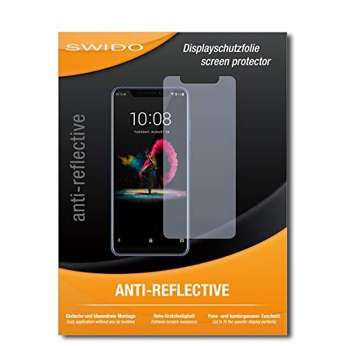SWIDO Bildschirmschutz für ZTE Axon 9 Pro [4 Stück] Anti-Reflex MATT Entspiegelnd, Hoher Festigkeitgrad, Schutz vor Kratzer/Glasfolie, Schutzfolie, Bildschirmschutzfolie, Panzerglas Folie