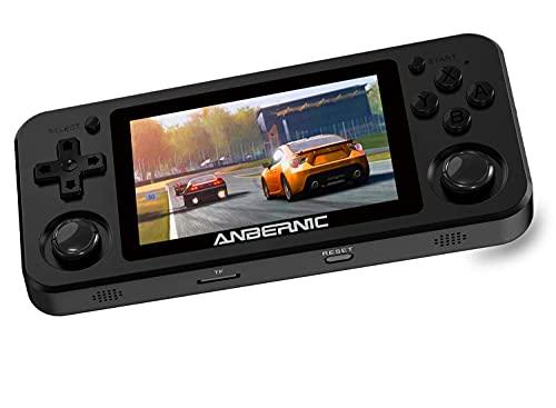 Console Giochi Portatile RG351M Anbernic con 2500 Giochi, Bluetooth e Wifi Console Portatile Giochi Retro Supporta PSP NDS DC,RK3326 1.5GHz,Console per Videogiochi 3,5 IPS(Nero)