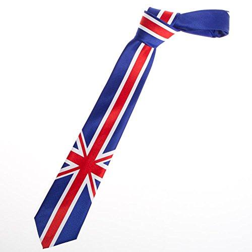 Impressionnante Cadeaux pour Homme Drapeau Anglais United Kingdom Union Jack Cravate - Bleu -