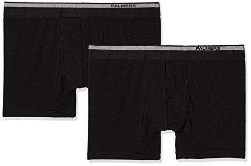 Palmers Herren Authentic Modal Pants Doppelpack Boxershorts, Schwarz (Schwarz 900), Medium (2er Pack)