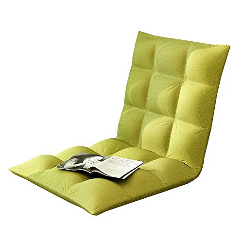 Laishutin Sofa Sofa Bed Chair Lengthen Folding Adjustable Floor Lounger Sleeper Futon Mattress Seat For Living Room and Office (Color : Green, Size : 50 * 100 * 10cm)