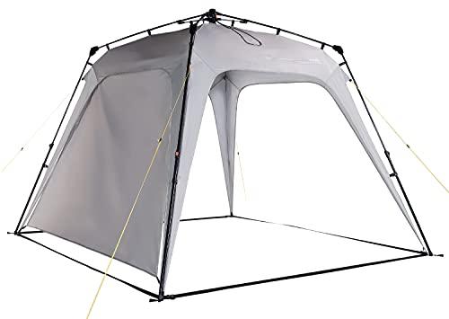 Lumaland x Where Tomorrow Gazebo de Camping – 1 Pared Lateral Incluido - Carpa de jardín – Cenador para Patio – Ideal para Acampada/Festival – Instalación Fácil – Gris Claro