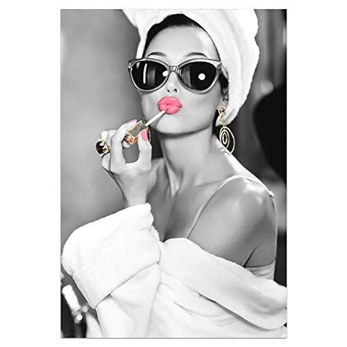 Fashion wall art black white hookah print beauty poster canvas art beauty wall picture modern living room bedroom home decoration mall bar club ktv decoration